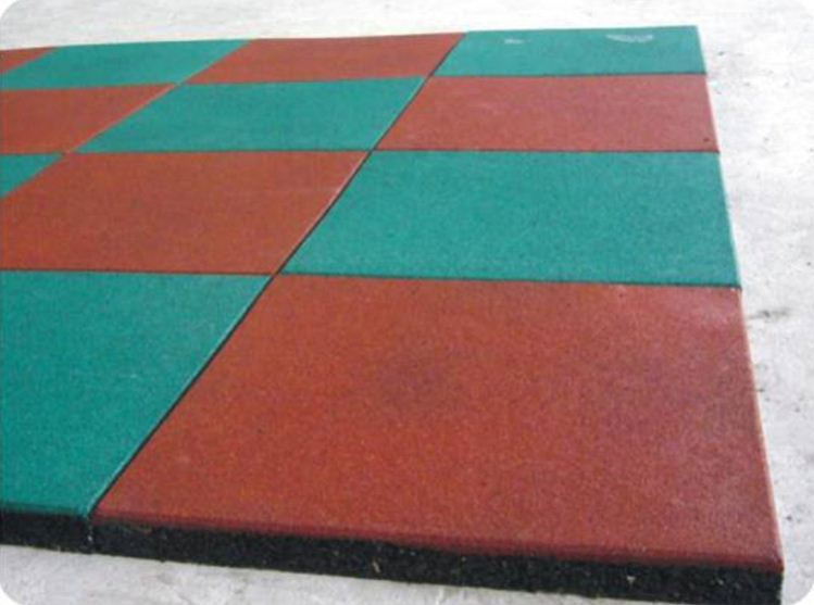 Fym Outdoor Recycle Safety Rubber Floor Tiles