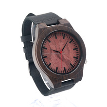 Design your own real wood watchMaterial Wooden watch Promotional Distributor Japan Movement Coloful Cheap real wood watch