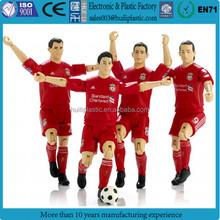 lifelike plastic custom action figure, custom articulated plastic movable action figure, sports action figure