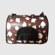Pet carrier travel bag , travel dog carrier , leather portable cat carrier