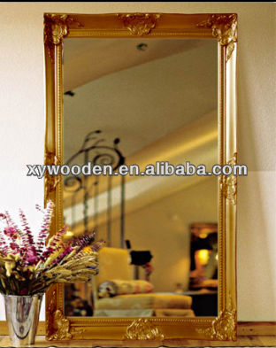 Large Gold Decorative Antique Bevelled Full Length Wall Mirror