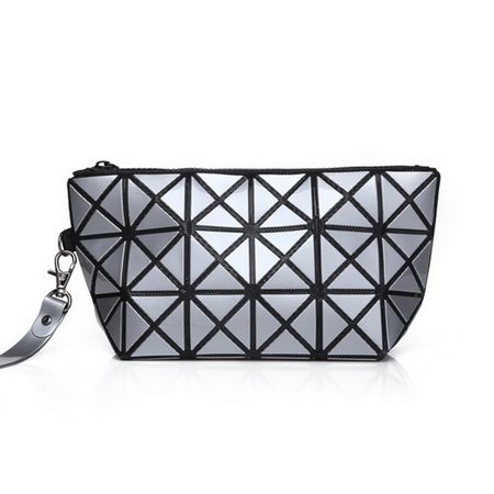 RYC3009 Women Cosmetic Bag Beauty Bag Pu Leather Clutch 2017 New Geometric Makeup Bag with Zipper