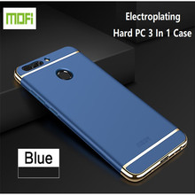 Original Mofi Brand Electroplating Hard PC 3 In 1 Cover For Huawei Mate 7 8 9 Pro Honor 6X V9 P8 Lite 2017 P9 P10 Lite Plus Case
