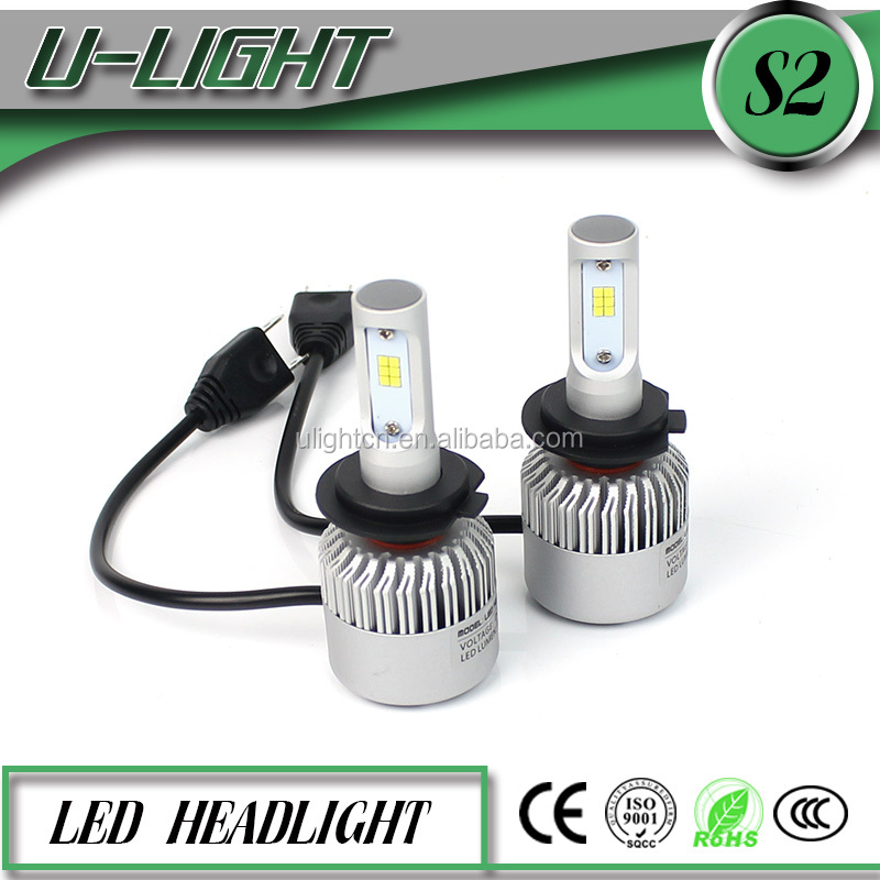 U-Light newest S2 auto all in one led headlamp, 30w 8000lm h7 auto led headlamps 6500k single beam led headlamp