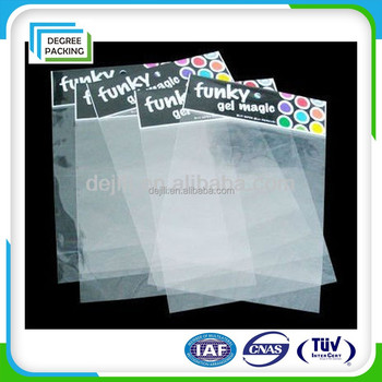 2015 Hot Sale Adhesive Opp Bag with Header