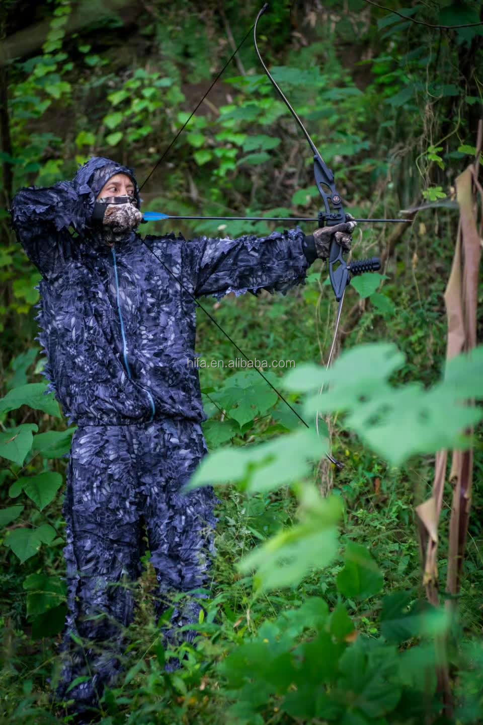 CS Sniper Jungle Ghillie Suit /3D maple leaf Bionic hunting clothes