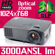Business Education 300inch 3000ANSI fulI HD 1080P Home Theater Cinema Video VGA 3D DLP Projector Proyector Beamer