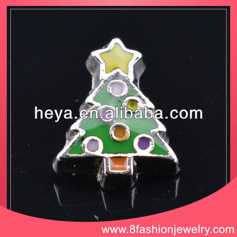 floating charms locket with round plate for glass lockets