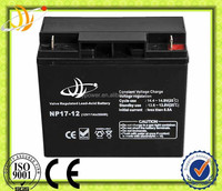 manufacturer high capacity valve regulated gel battery solar battery 12V17AH