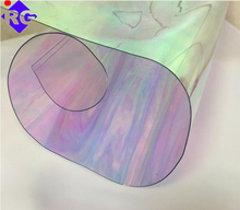 Double side Lamination Iridescent Film Colored Plastic Film for rain cover, fashion designing
