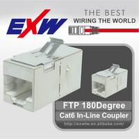 FTP 180 Degree Cat6 In-Line Coupler