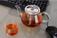 Borosilicate Glass Commercial Tea Pot With Stainless Steel Infuser