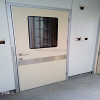 HD122 new design wooden double leaf single swing medical airtight door