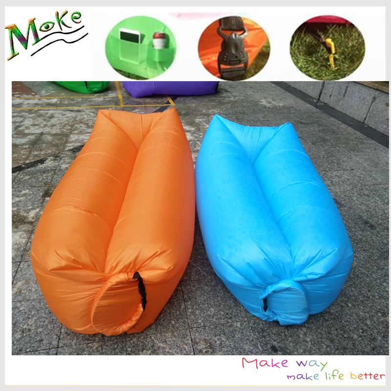 Christmas gift most popular summer camping gift fast inflatable air sofa bed beach lazy bag camping air mattress