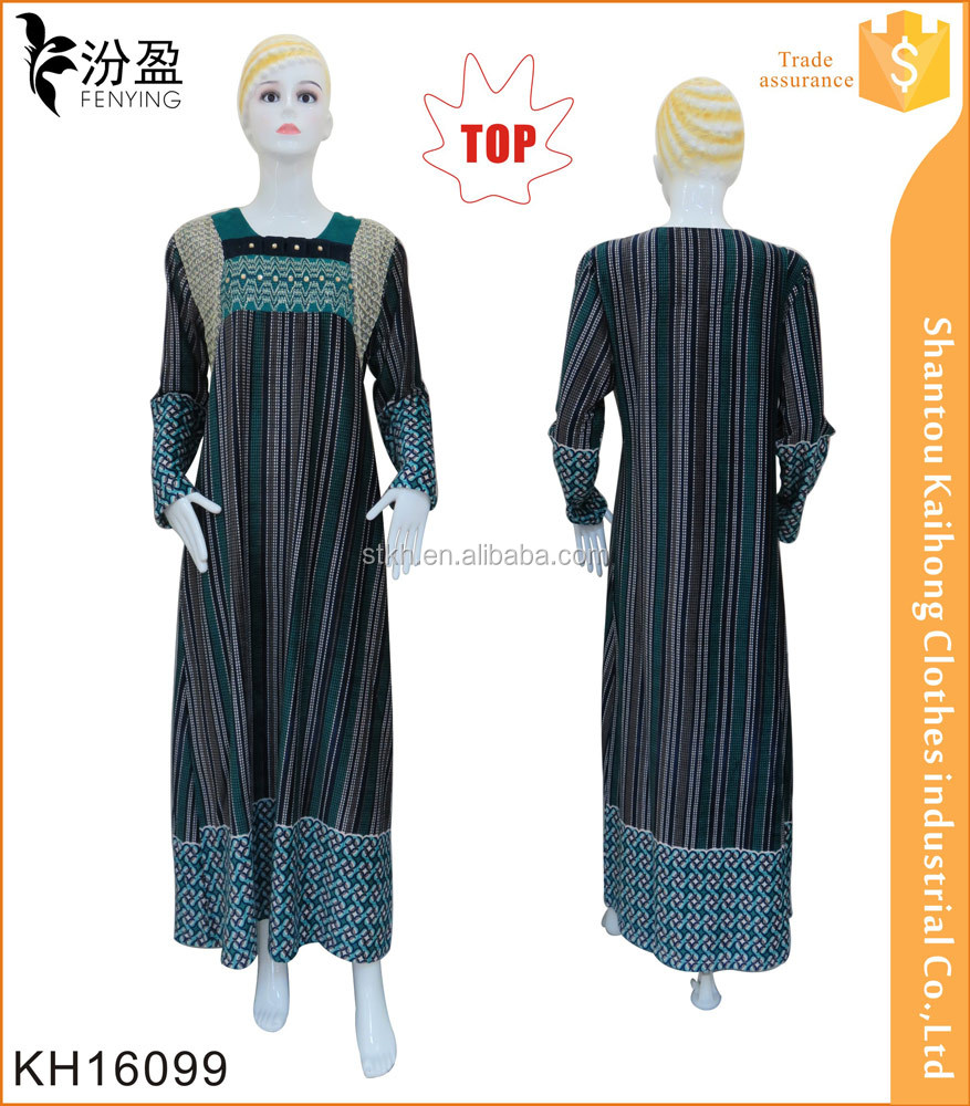 2016 high quality women special print turkey abaya with crystal beads and sequins