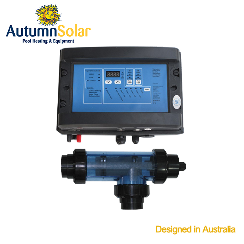Button operation pool system water chlorination equipment with digital time clocks