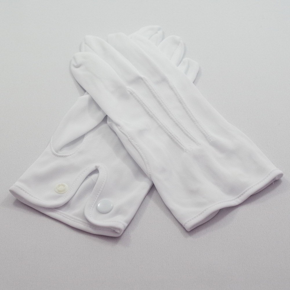 White Nylon Formal Korea Bridegroom Ceremonial Gloves