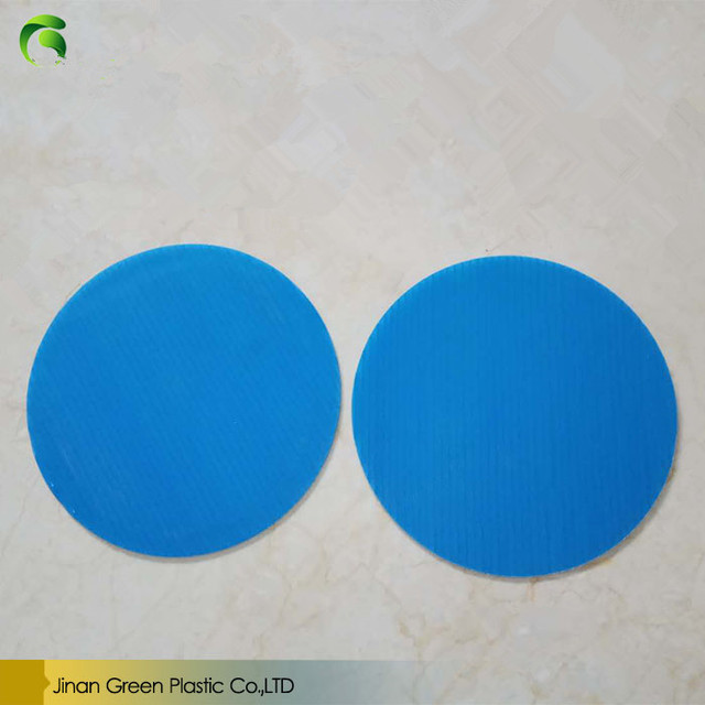 Chinese Factory Supply Round Shape White PP Coroplast Round Sheet