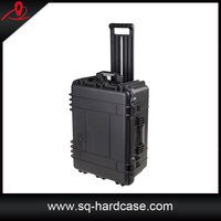 Plastic water proof shock-resistant camera case with wheels