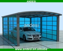 new design pc roof metal carports canopy for car
