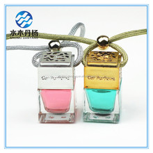 5ml cheap Korea car hanging air freshener perfume bottle scents car perfume glass bottle