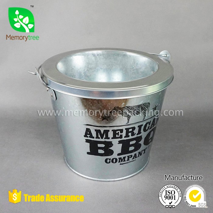 Decoration bucket Party decoration beer bucket BBQ use