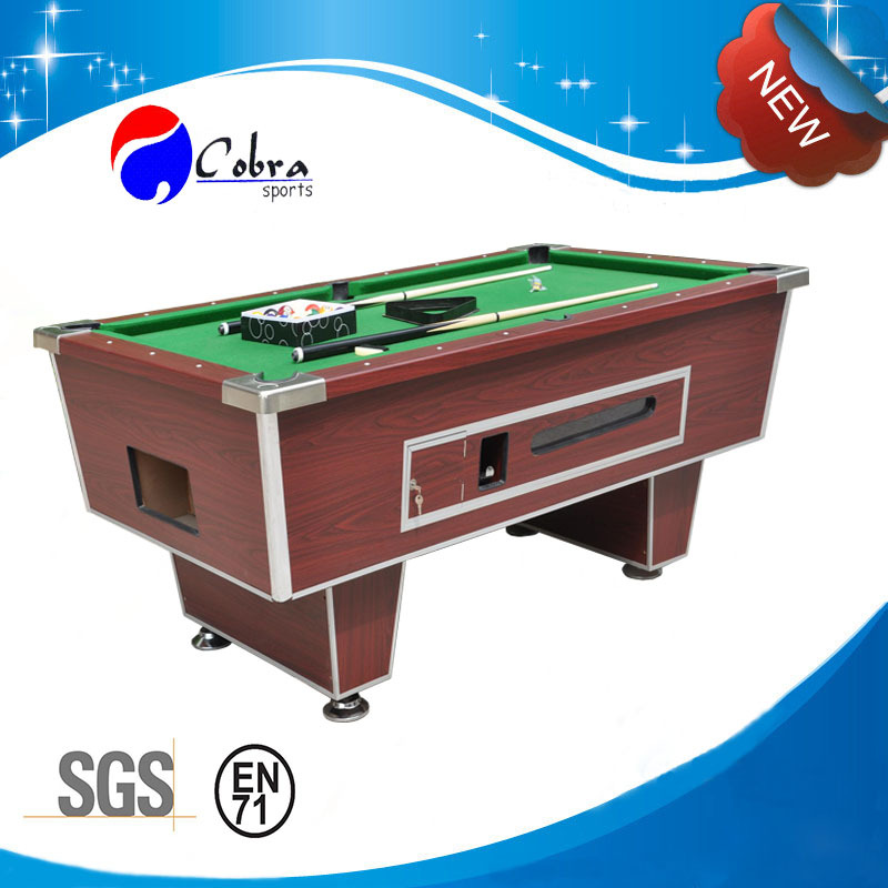 KBL-B901 slate pool solid wood coin operated billiard table with strong structure