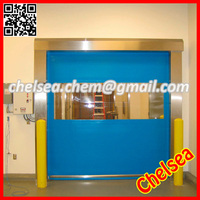 Fast automatic rolling screen door