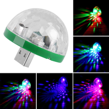 2018 Best Selling 4W 4LEDs Mini RGB Magic Ball Sound Control Stage Effect USB Music DJ Disco Light