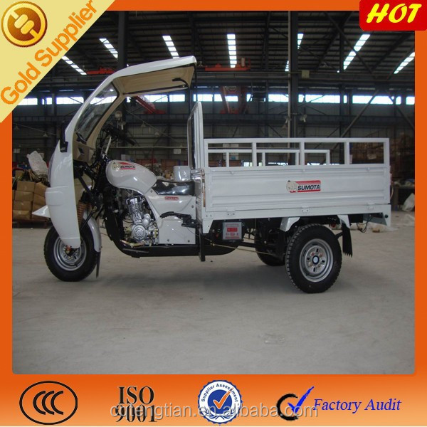 New design of semi-cabin of three wheel motorized cargo