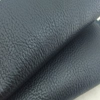 Black Pvc Leather Raw Material For