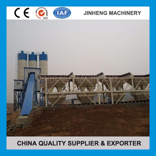 HZS Series Belt Conveyor Type Stationary HZS180 Capacity 180m3/h Concrete Mixing Plant In China