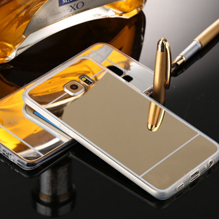 aluminum sheet metal bumper Electroplating mirror case phone cover for samsung s7