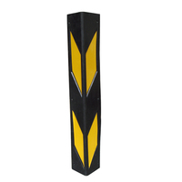 yellow tape 600mm garage using right angle rubber corner protector