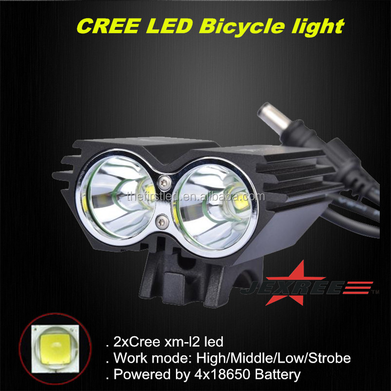 JEXREE 2000 lume Rechargeable T6 CREE led light <strong>bike</strong> racing bicycle light