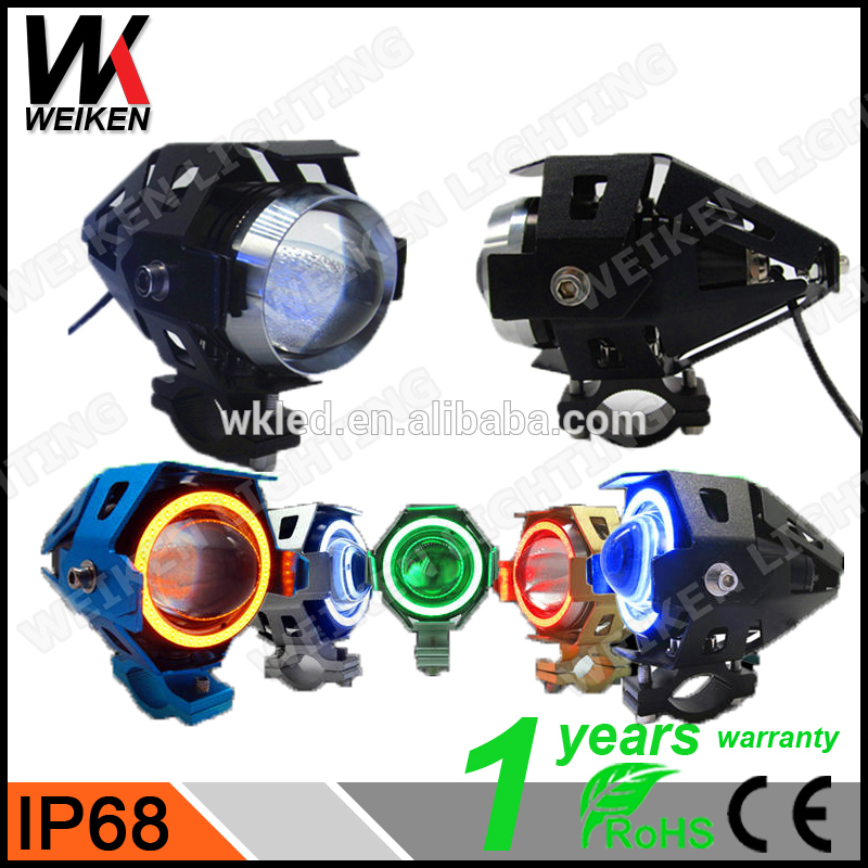 WEIKEN 15W black angel eye projector headlights with demon eyes