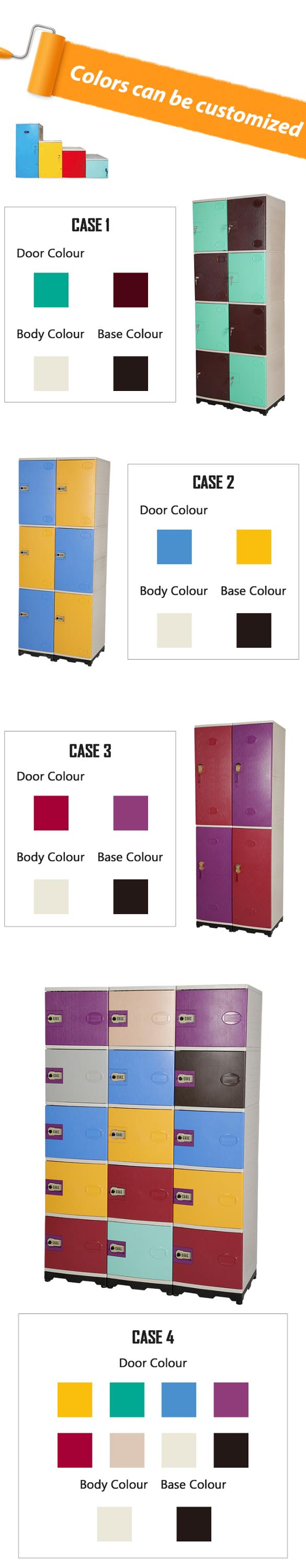 strong ABS Locker with 4 compartments for storing personal belongings