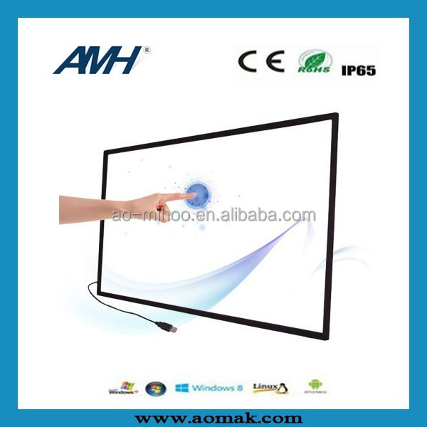 55 inch 2/6/10/16/32 Touch Point Multi Touch Screen Overlay / IR Touch Screen Kit/ IR Frame,CE FCC ROHS IP65