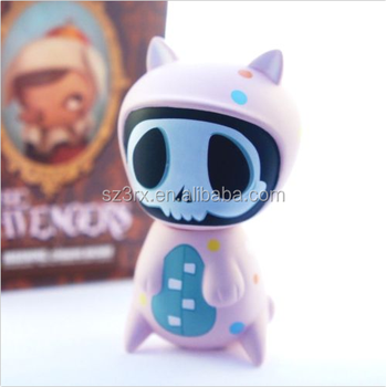 Personalized ghost cat shape vinyl figure toys/Make your own Plastic vinyl toys/OEM plastic vinyl toys for kids adults