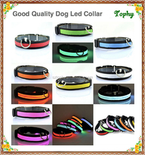 Promotional hot selling led lighted dog collars led dog collars and leash