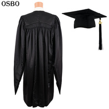 Wholesale Best Quality mens academic university cap and gown/ master gown / graduation gown