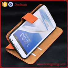 Flip Genuine Leather Case Cover With Card Holder Stand For Samsung Galaxy Note 2