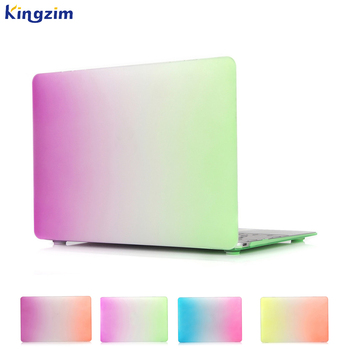 Colorful Rainbow Matte Rubberized Laptop pc hard case 13 inch for macbook air case