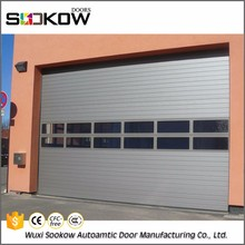commerical frosted China newest used aluminium frame industrial overhead door