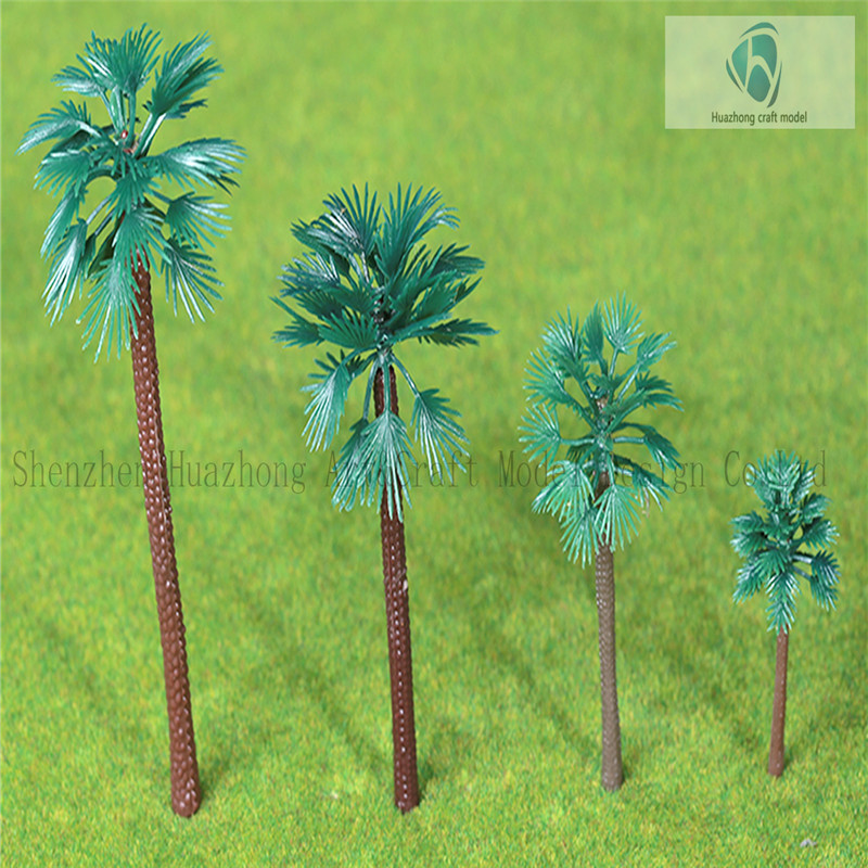 Architectural model Plastic scale model palm trees for train layout