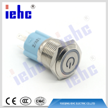YHJ16-261 16mm 12v led latching push button switch
