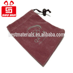 Jewellery packaging pouch santa's gift bags velvet pouch for jewellery/gift fabric packing pouch