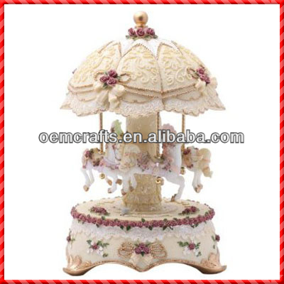 lumination Carousel Music Box for Birthday Souvenir Gifts