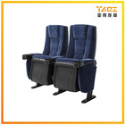 Wholesale Portable Fabric Armrest Home cinema folding seat with cup holder movie theater chair for sale YA-603