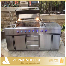 European Standard Luxury 304 Or 430 Stainless Steel Outdoor Kitchen